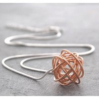 Rose Gold Nest Necklace With Snake Chain, Gold