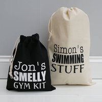 Personalised Sports Or Gym Bag, Black/White/Red
