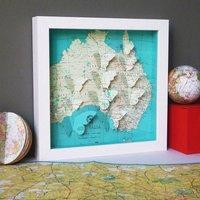 Bespoke Butterfly Map Artwork, Black/White