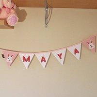 Personalised Baby Bunny Bunting Nursery Banner