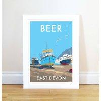 Beer Vintage Style Seaside Poster
