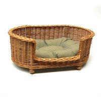 Luxury Wicker Pet Bed Basket Settee
