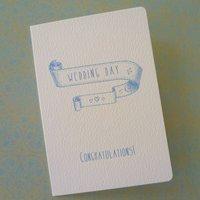 Vintage Inspired Wedding Banner Card