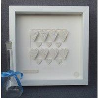 Framed Porcelain Hearts