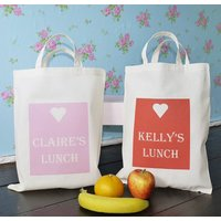 Personalised Lunch Bag, Pink/Red