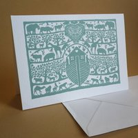 Noahs Ark Christening Card