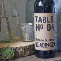 Personalised Wine Bottle Table Numbers