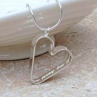 Personalised Silver Secret Heart Necklace, Silver