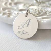 Sterling Silver Secret Name Necklace, Silver