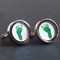 Your Child's Hand Or Footprints Cufflinks