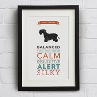 Cesky Terrier Dog Breed Traits Print