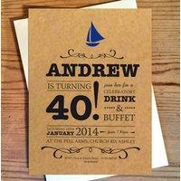 Ahoy There! Birthday Invitations
