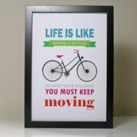 'Life Is Like Riding A Bicycle' Poster