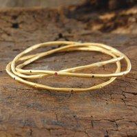 18k Gold Sapphire Birthstone Stacking Bangle, Gold