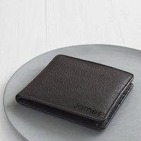 Personalised Corporate Gift Medium Leather Wallet, Black/Brown/Tan