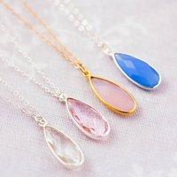 Set Of Four Gemstone Bridesmaid Necklaces