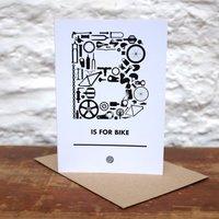 'B Is For Bike' Greetings Card