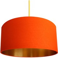 Tangerine Cotton Shade With Copper Or Gold Lining