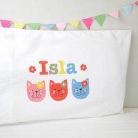 Girls Personalised Character Pillowcase Various Designs