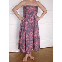 Vintage Floral Print Cotton Dress/Skirt