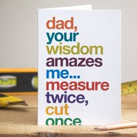 Funny Card For Diy Mad Dad