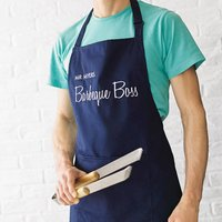 Personalised BBQ Apron, Red/Deep Red/Dark Pink