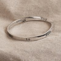 Message Bangle The Only Way To Have... Silver Plated, Silver
