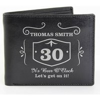 Personalised Whisky Style Wallet, Brown/Black