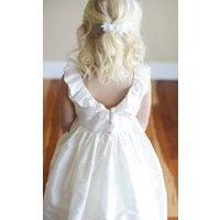 Pure Silk Flower Girl Dress