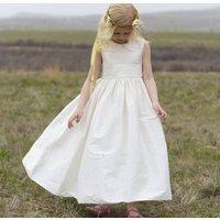 Flower Girl Dress With Peter Pan Collar