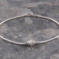 Charm Sterling Silver Bracelet, Silver