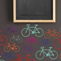 Bike Wall Stickers, White