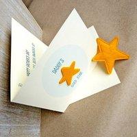 'Daddy's Gold Star' Award Keepsake Father's Day Card