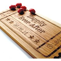 Personalised Wedding Gift Oak Wood Sharing Board