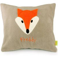 Fox Personalised Cushion, Brown