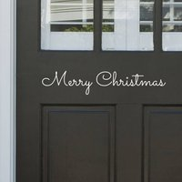 'Merry Christmas' Door Or Wall Sticker, White/Black/Grey
