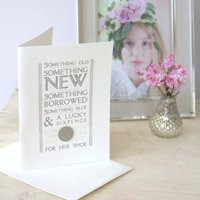 Lucky Sixpence For Her Shoe Card