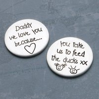 Personalised Silver Love You Message Token