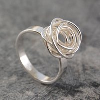 Sterling Silver Nest Ring, Silver