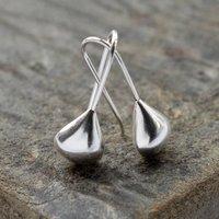 Sterling Silver Teardrop Earrings, Silver