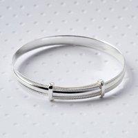 Sterling Silver Baby Bracelet, Silver