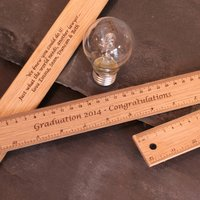 Personalised Graduation Day Gift Wooden Ruler