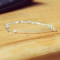 Silver Women's Identity Bracelet, Silver