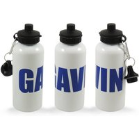 Personalised Drinks Bottle, Black/Red/Blue