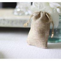 Wedding Favour Bag Or Advent Gift Bag Hessian / Linen