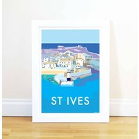 St Ives Vintage Style Seaside Poster