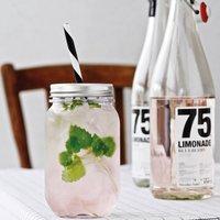 Plastic Jam Jar Glass With Straw