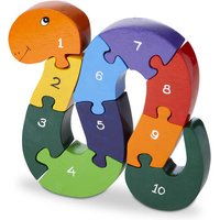 Handmade Wooden Number Snake Puzzle