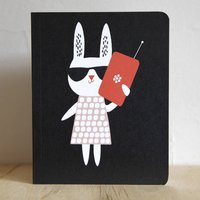 Mobile Phone Rabbit Notebook