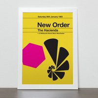 New Order Remixed Gig Poster